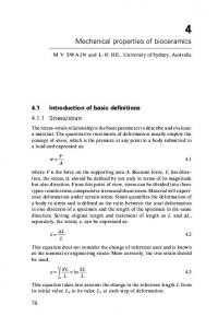 4 Mechanical properties of bioceramics