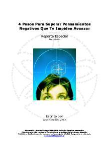 4 Pasos Para Superar Pensamientos Negativos Que Te Impiden Avanzar