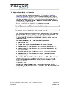 4 Patton SmartNode Configuration
