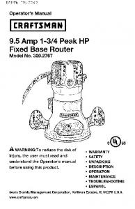 4 Peak HP Fixed Base Router