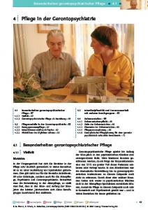 4 Pflege in der Gerontopsychiatrie