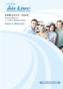 4 Ports Modem Router. User s Manual