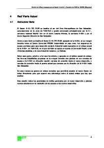 4 Red Viaria Actual. 4.1 Estructura Viaria