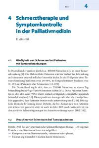 4 Schmerztherapie und Symptomkontrolle in der Palliativmedizin