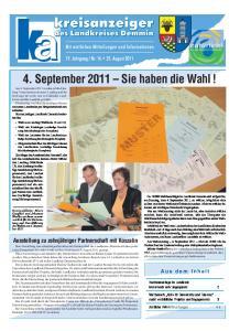 4. September 2011 Sie haben die Wahl! Am 4. September 2011 werden in Mecklenburg-Vorpommern
