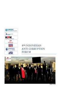 4 th INDONESIAN ANTI CORRUPTION FORUM