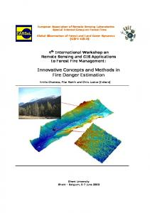 4 th International Workshop on Remote Sensing and GIS Applications to Forest Fire Management: