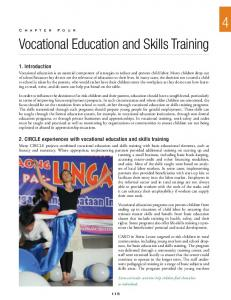 4 Vocational Education and Skills Training