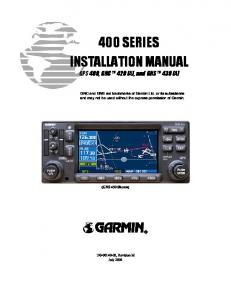 400 SERIES INSTALLATION MANUAL