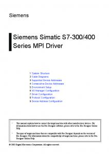 400 Series MPI Driver