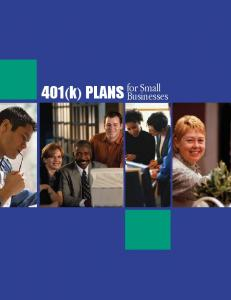 401(k) PLANS. for Small Businesses