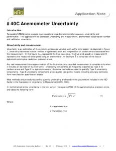 #40C Anemometer Uncertainty