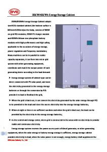 40KWh Energy Storage Cabinet