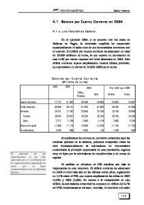 4.1. Balanza por Cuenta Corriente en 2004