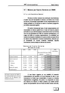 4.1. Balanza por Cuenta Corriente en 2005