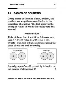 4.1 BASICS OF COUNTING