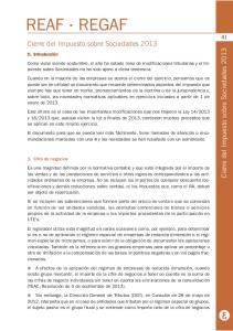 41 Cierre del Impuesto sobre Sociedades 2013