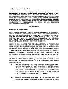 4.1 Contrato de Arrendamiento