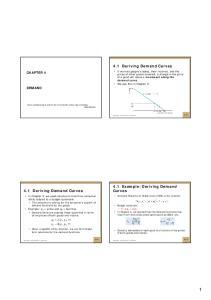 4.1 Deriving Demand Curves