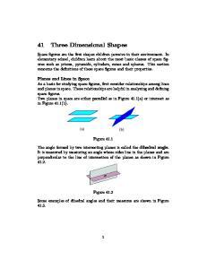 41 Three Dimensional Shapes