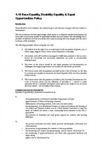 4.10 Race Equality, Disability Equality & Equal Opportunities Policy