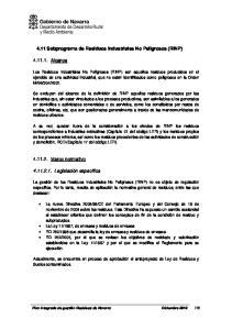 4.11 Subprograma de Residuos Industriales No Peligrosos (RINP)