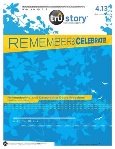 4.13. Remembering and Celebrating God s Freedom: Festival of Jubilee
