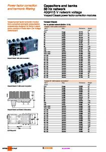415 V network voltage Varpact Classic power factor correction modules