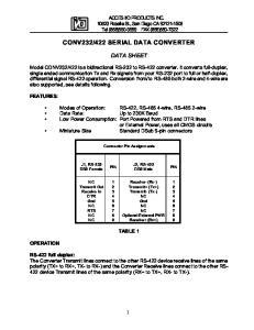 422 SERIAL DATA CONVERTER