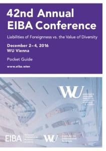 42nd Annual EIBA Conference