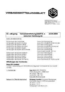 43. Jahrgang Verbandsmitteilungsblatt Nr