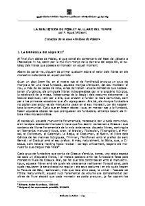 43448 Abadia de Poblet LA BIBLIOTECA DE POBLET AL LLARG DEL TEMPS pel P
