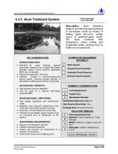 4.4.4 Alum Treatment System