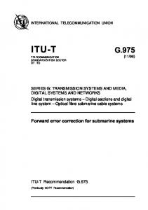 )454 ' &ORWARD ERROR CORRECTION FOR SUBMARINE SYSTEMS