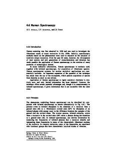 4.6 Raman Spectroscopy