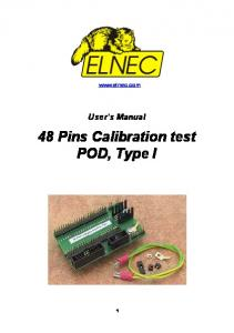 48 Pins Calibration test POD, Type I