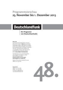 48. Programmvorschau 25. November bis 1. Dezember 2013
