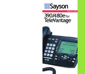 480e for TeleVantage. Pocket User Guide