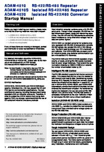 485 Converter Startup Manual