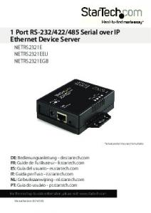 485 Serial over IP Ethernet Device Server