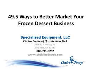 49.5 Ways to Better Market Your Frozen Dessert Business