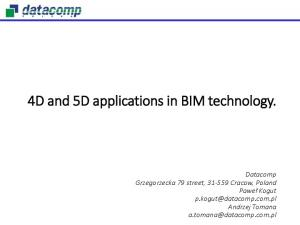 4D and 5D applications in BIM technology