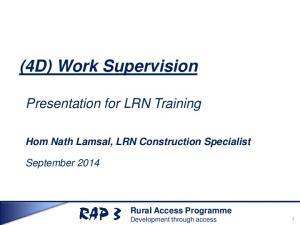 (4D) Work Supervision