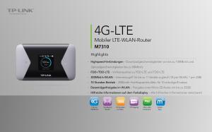 4G-LTE Mobiler LTE-WLAN-Router M7310