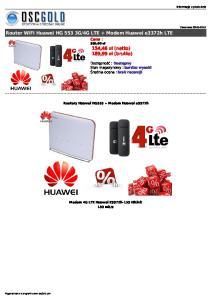 4G LTE + Modem Huawei e3372h LTE