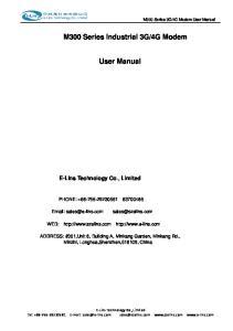 4G Modem. User Manual