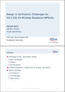 4G Wireless Baseband MPSoCs
