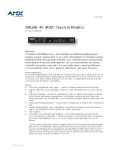 4K HDMI Receiver Module