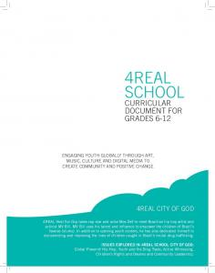 4REAL SCHOOL CURRICULAR DOCUMENT FOR GRADES REAL CITY OF GOD