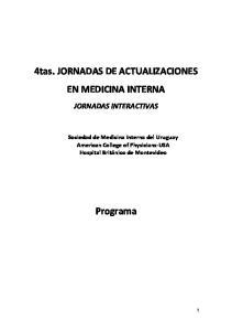 4tas. JORNADAS DE ACTUALIZACIONES EN MEDICINA INTERNA